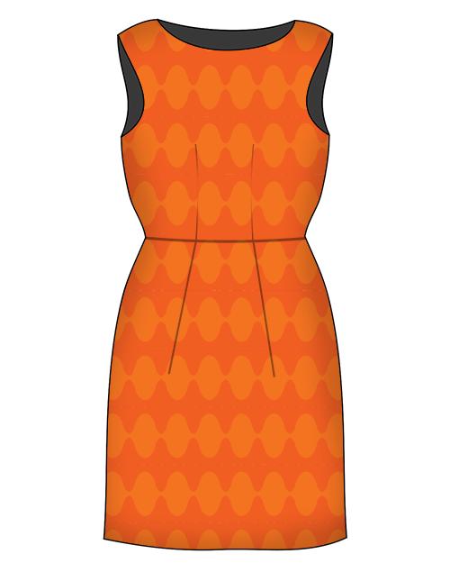 SophieTerrier_Dress_OrangeRetro