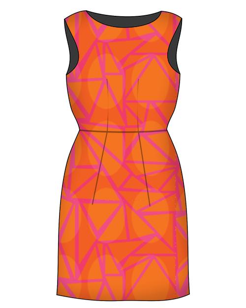 Robe Orange Rose par supersophie