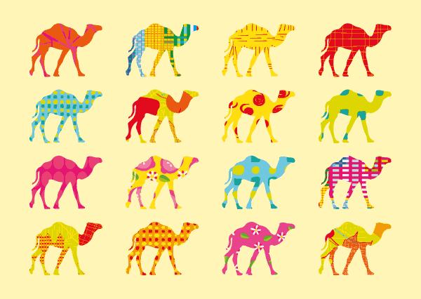 Carte chameaux from Dubai ©2014 Sophie Terrier